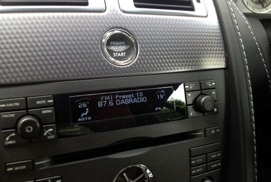 Handsfree install a fantastic wireless DAB radio into Aston Martin DB9