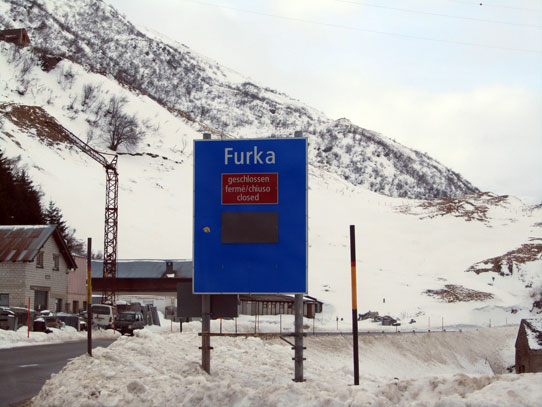 Furka pass closed