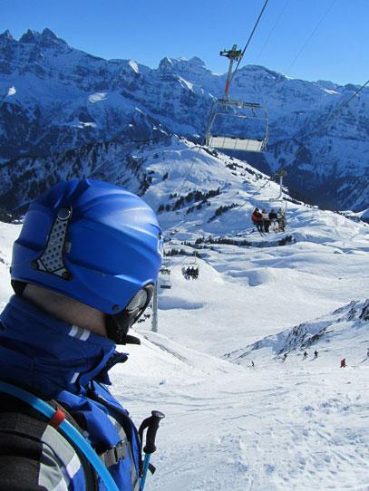 Neil skiing